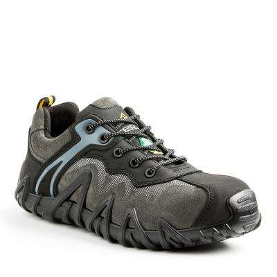 Venom Low Men's Black/Grey Leather and Suede Safety Show