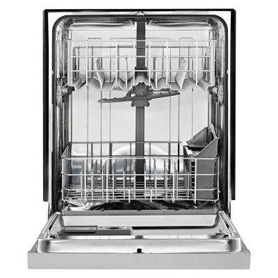Front Control Built-In Tall Tub Dishwasher in Biscuit with Stainless Steel Tub