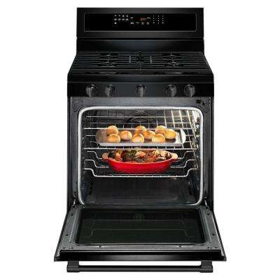 5.8 cu. ft. Gas Range with True Convection in Black