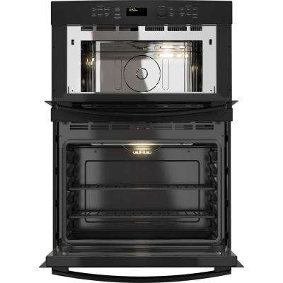 27 in. Electric Wall Oven with Built-In Microwave in Black