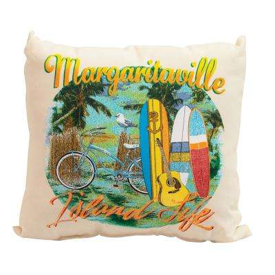 Island Life 17 in. Square Outdoor Throw Pillows (2-Pack)