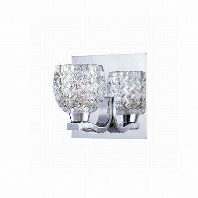 Wave Collection 1-Light Chrome Wall Sconce