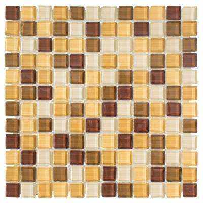 Milano Russo Medley 12 in. x 12 in. x 8 mm Glass Mosaic Wall Tile