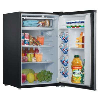 4.3 cu. ft. Mini Refrigerator Single Door Only in Stainless Look