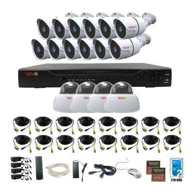 Aero HD 1080p 16-Channel 2TB Video Security System with 16 Indoor/Outdoor Cameras