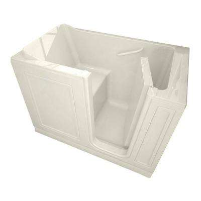 Acrylic Standard Series 51 in. x 30 in. Walk-In Soaking Tub with Quick Drain in Linen