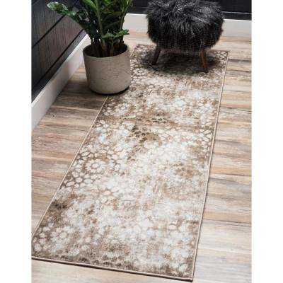 Sofia Larvotto Brown 3' 3 x 16' 5 Runner Rug