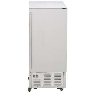 50 lb. Freestanding Icemaker in Stainless Steel