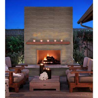 Gray Oak 3D Ledger Panel 6 in. x 24 in. Honed Marble Wall Tile (10 cases / 60 sq. ft. / pallet)