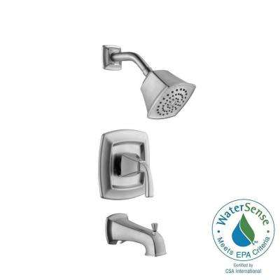 Mason 1-Handle 1-Spray Tub and Shower Faucet in Brushed Nickel