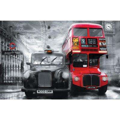 45 in. x 69 in. Taxi and Bus Wall Mural
