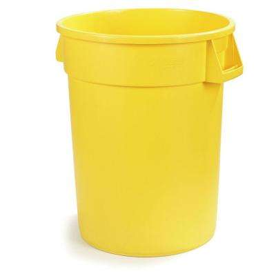 Bronco 32 Gal. Yellow Round Trash Can (4-Pack)