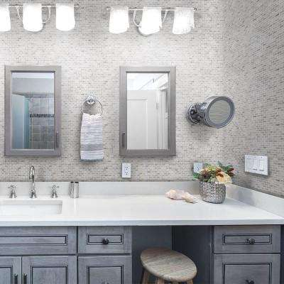 Stormy Knight Gray 12 in. x 12 in. x 10mm Interlocking Glossy Stone Mosaic Tile