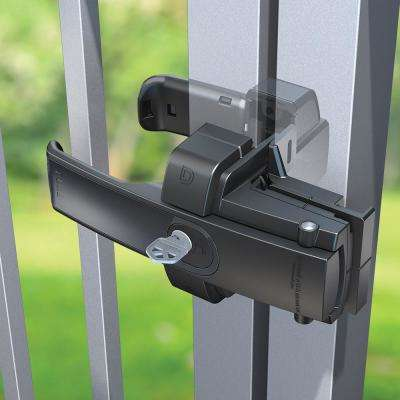 Black Polymer and Stainless Steel Premium Two-way Magnetic Self-latching Fence Gate Latch