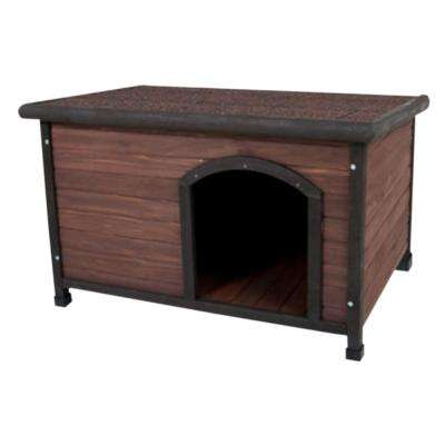45.5 in. x 31 in. x 32.3 in. Ruff Hauz Offset Entry Dog House
