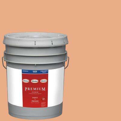 5-gal. #HDGO19D Dramatic Coral Satin Latex Interior Paint with Primer