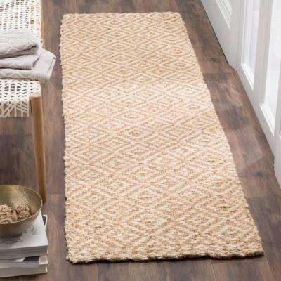 Natural Fiber Ivory/Beige 2 ft. 3 in. x 10 ft. Runner Rug