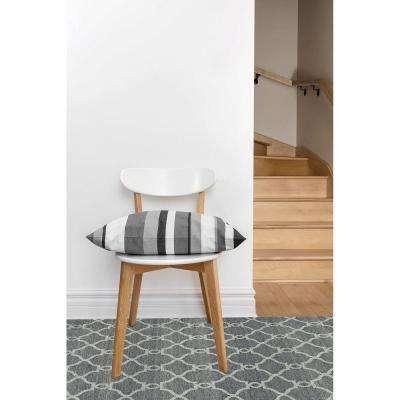 Silky Dark Gray/Light Gray 8 ft. x 10 ft. Indoor Area Rug