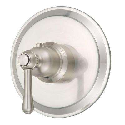 Opulence 3/4 in. Thermostatic Shower Valve Trim Only in Brushed Nickel