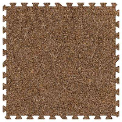 Light Brown 24 in. x 24 in. Comfortable Carpet Mat (100 sq. ft. / Case)