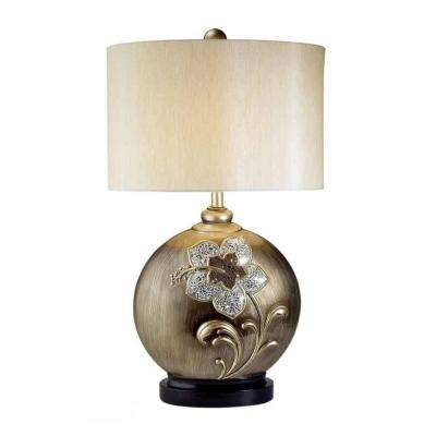 29 in. Antique Brass My Fair Lady Collection Table Lamp
