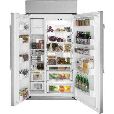 29.6 cu. ft. Smart Built-In Side by Side Refrigerator in Stainless Steel
