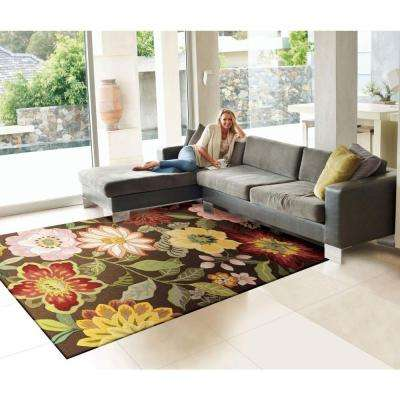 Spring Blossom Chocolate 8 ft. x 11 ft. Area Rug