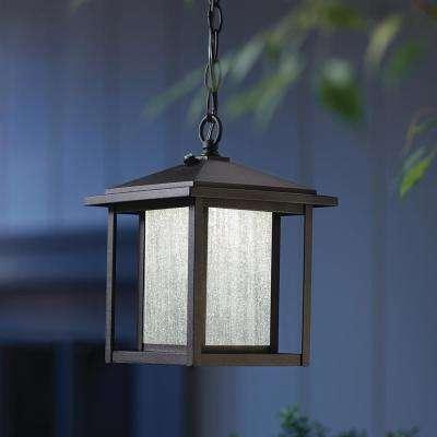 Black Outdoor Dusk to Dawn Hanging Lantern