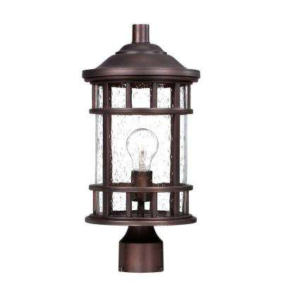 New Vista 1-Light Architectural Bronze Outdoor Post Lantern