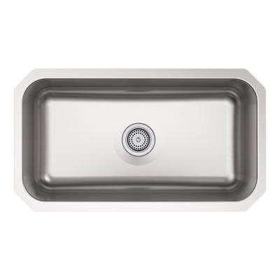 Ballad Undermount Stainless Steel 32 in. Single Bowl Kitchen Sink