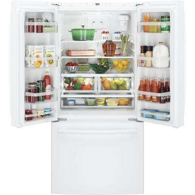 33 in. 18.6 cu. ft. French Door Refrigerator in White, Counter Depth