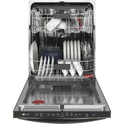 Top Control Tall Tub Dishwasher in Black Slate with Stainless Steel Tub and Steam Prewash, 45 dBA