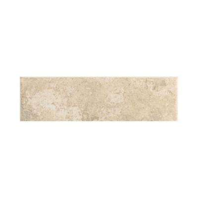 Stratford Place Alabaster Sands 3 in. x 12 in. Ceramic Bullnose Wall Tile