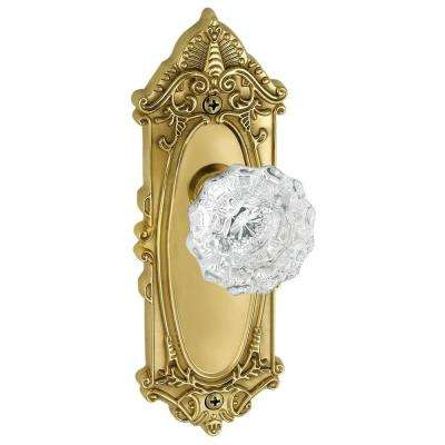Grande Victorian Lifetime Brass Plate with Dummy Versailles Crystal Knob