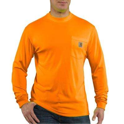 Personal Protective Brite Orange Polyester Long-Sleeve T-Shirt