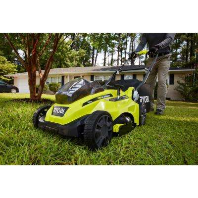 16 in. ONE+ 18-Volt Lithium-Ion Cordless Battery Walk Behind Push Lawn Mower Two 4.0Ah Batteries/Charger Included