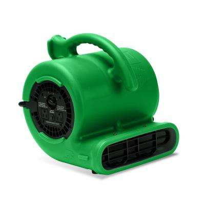 1/4 HP 900 CFM Air Mover for Water Damage Restoration Carpet Dryer Blower Fan Home and Plumbing Use Green (252-Pack)