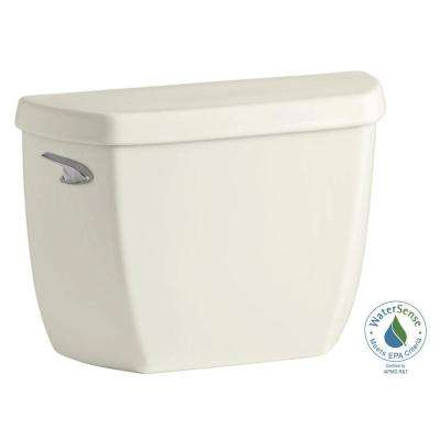 Wellworth Classic 1.28 GPF Single Flush Toilet Tank Only with Class Five Flushing Technology in Biscuit
