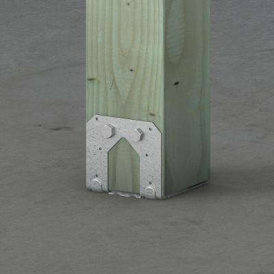PB ZMAX Galvanized Non-Standoff Post Base for 6x6 Nominal Lumber