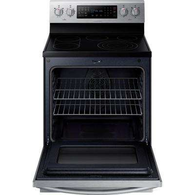 30 in. 5.9 cu. ft. Electric Range with Self-Cleaning True Convection Oven in Stainless Steel