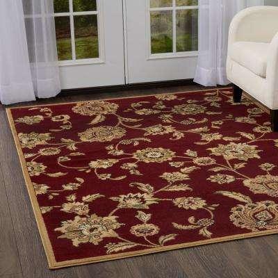 Optimum Red 8 ft. x 10 ft. Indoor Area Rug