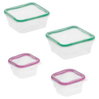 Total Solutions 8-Piece Plastic Storage Set