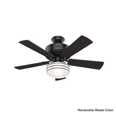 Cedar Key 44 in. Indoor/Outdoor Matte Black Ceiling Fan with Light Kit and Handheld Remote Control