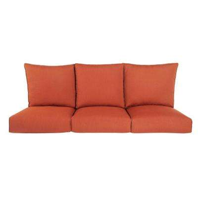 Highland Replacement Outdoor Sofa Cushion in Cinnabar