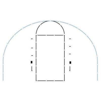 Basketball Court Complete Stencil Kit with 3-Point Line