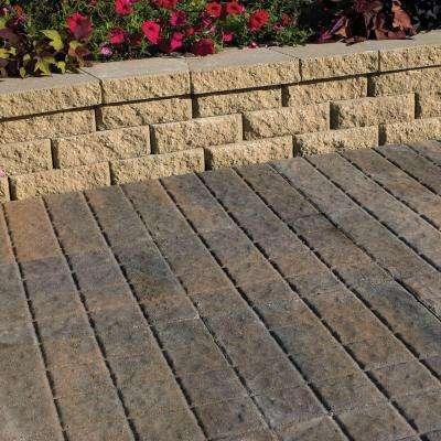 16 in. x 16 in. Charcoal/Tan Cobblestone Concrete Step Stone