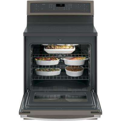 Profile 5.3 cu. ft. Smart Induction Range with Self-Cleaning Convection in Slate, Fingerprint Resistant