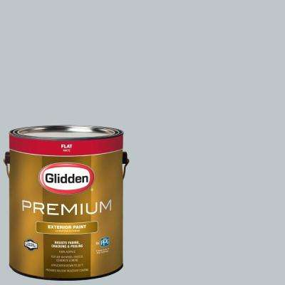 1-gal. #HDGCN28 Silver Blue Sea Flat Latex Exterior Paint