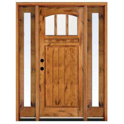 Craftsman Single Door With Sidelites Front Doors Exterior
