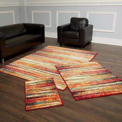 Splash Multi 5 ft. x 7 ft. 3-Piece Rug Set